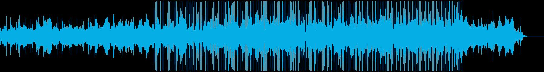 揚琴とストリングスの優しいテクノの再生済みの波形