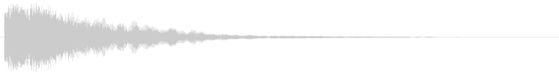 キラーン(体力回復音)の未再生の波形