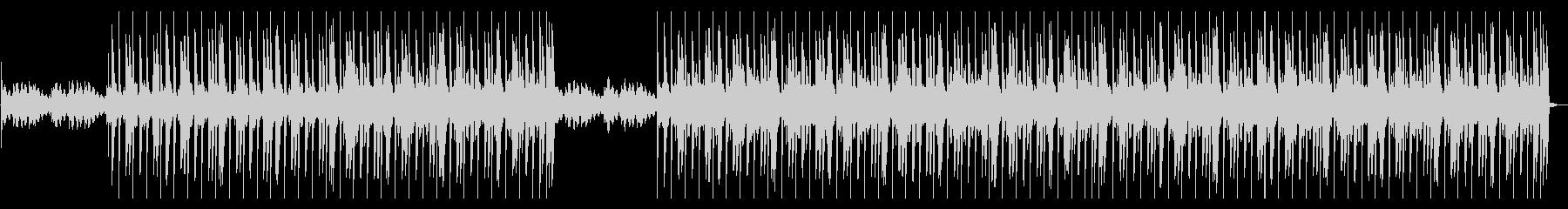 ピアノのメロディが印象的なヒップホップの未再生の波形