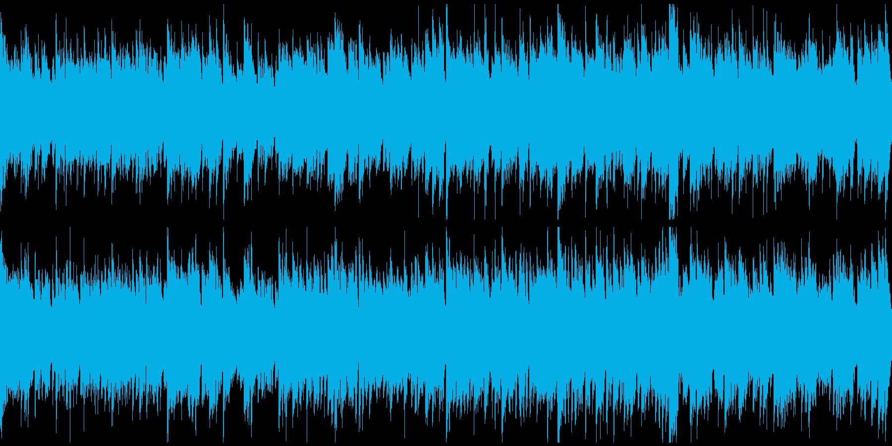 篠笛生演奏、のどかで綺麗な和風※ループ版の再生済みの波形