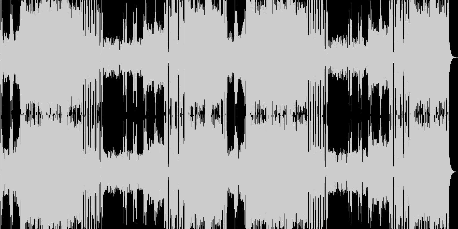 クールなメタルのボスバトル曲の未再生の波形