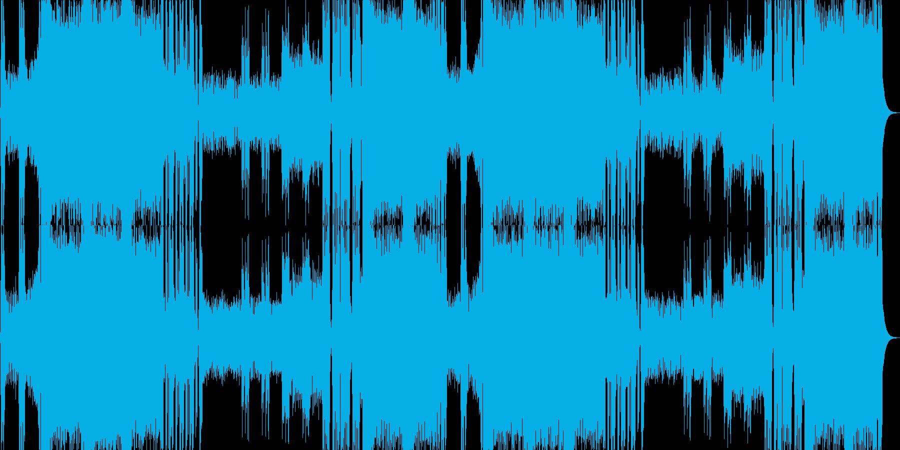 クールなメタルのボスバトル曲の再生済みの波形