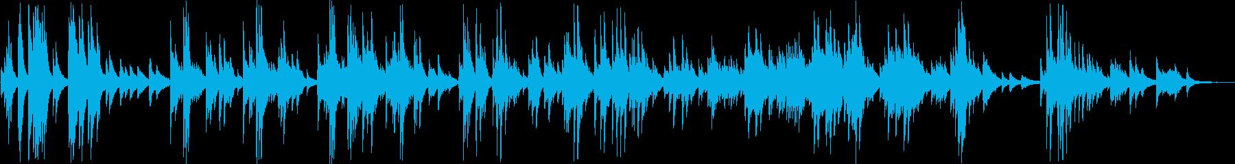 ゆっくりとしたキレイな旋律のピアノ曲の再生済みの波形