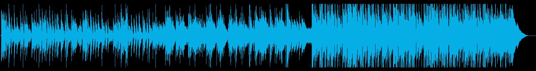 生演奏アコギ、優しい曲の再生済みの波形