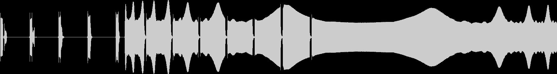 高ピッチの段階的点滅アラームの未再生の波形