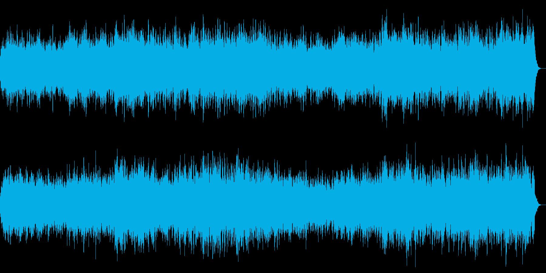 不快な音 暗闇・怖いシーン向けのBGMの再生済みの波形