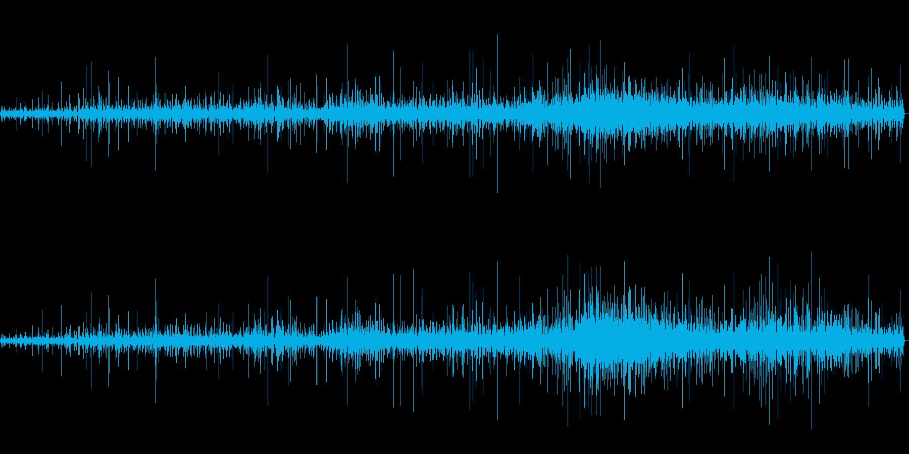 ハンバーグを弱火で焼いているときの音の再生済みの波形