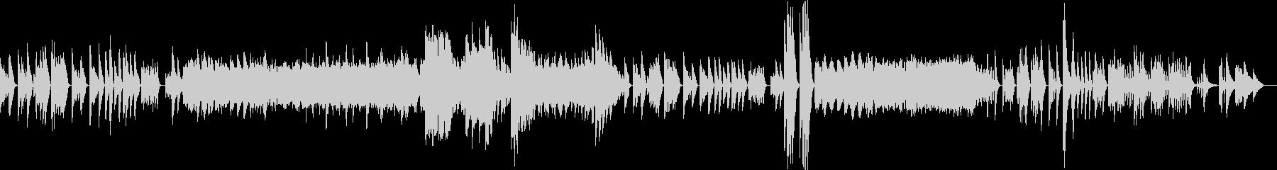 ベートーヴェンピアノソナタ第三番第二章の未再生の波形