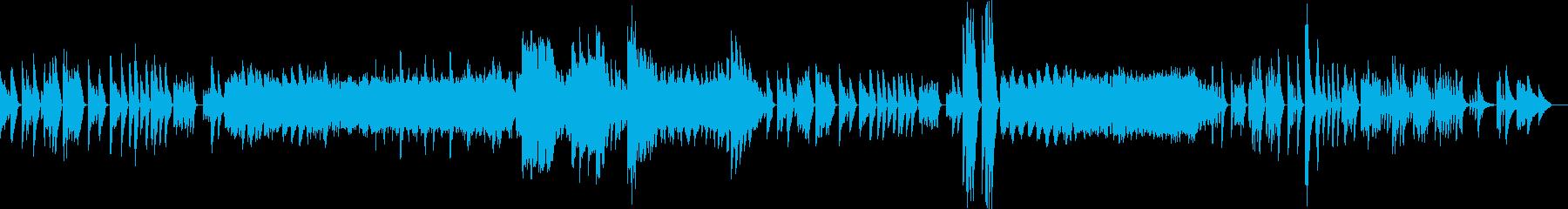ベートーヴェンピアノソナタ第三番第二章の再生済みの波形