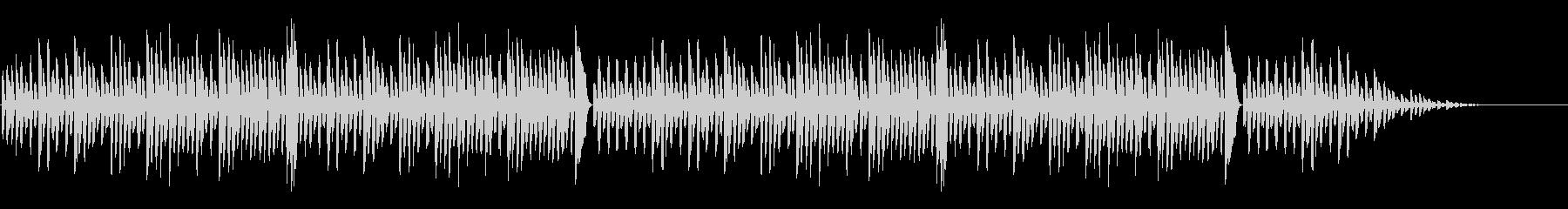 「森のくまさん」シンプルなピアノソロの未再生の波形