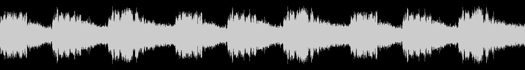 【録音】ミンミンゼミの鳴き声(ループ)の未再生の波形