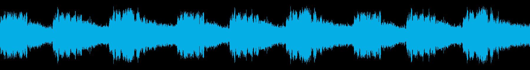【録音】ミンミンゼミの鳴き声(ループ)の再生済みの波形