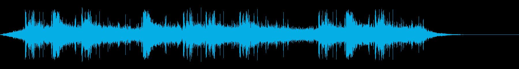 雨の音(雷あり)_雨模様の再生済みの波形
