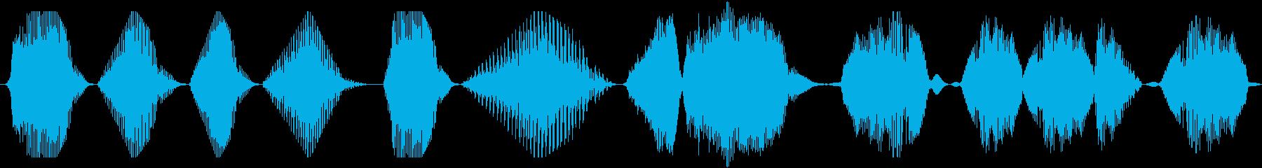 連続空間とロボット、低歪み音声、S...の再生済みの波形