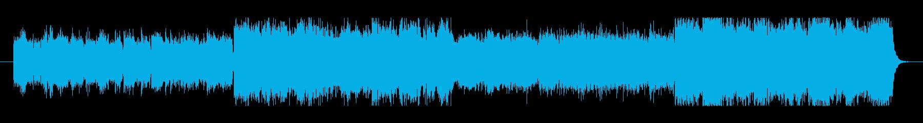 シンセサイザーによるシリアスな曲の再生済みの波形