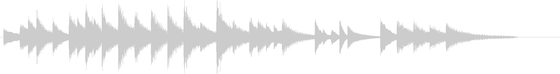 童謡・赤とんぼモチーフのピアノジングルBの未再生の波形