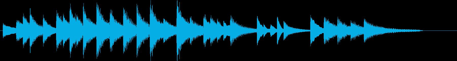 童謡・赤とんぼモチーフのピアノジングルBの再生済みの波形