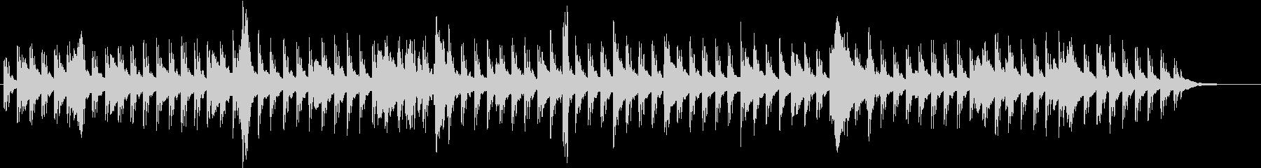 涼しげピアノBGM水滴をイメージの未再生の波形