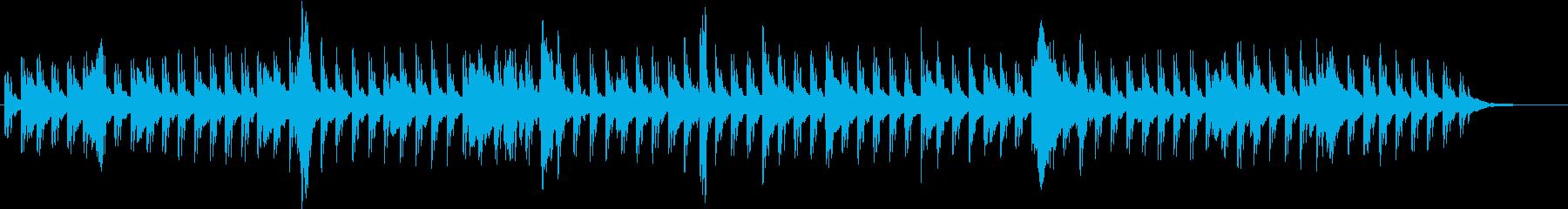 涼しげピアノBGM水滴をイメージの再生済みの波形
