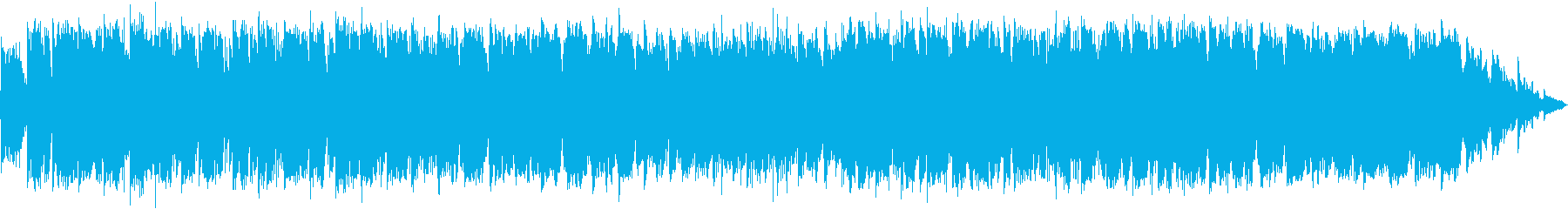 竹笛のメロディーのヒーリングミュージックの再生済みの波形