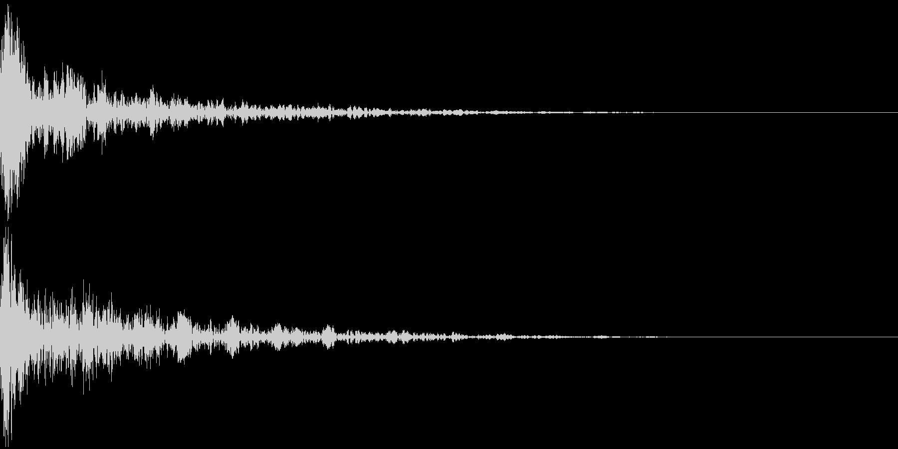 ドーン-16-2(インパクト音)の未再生の波形