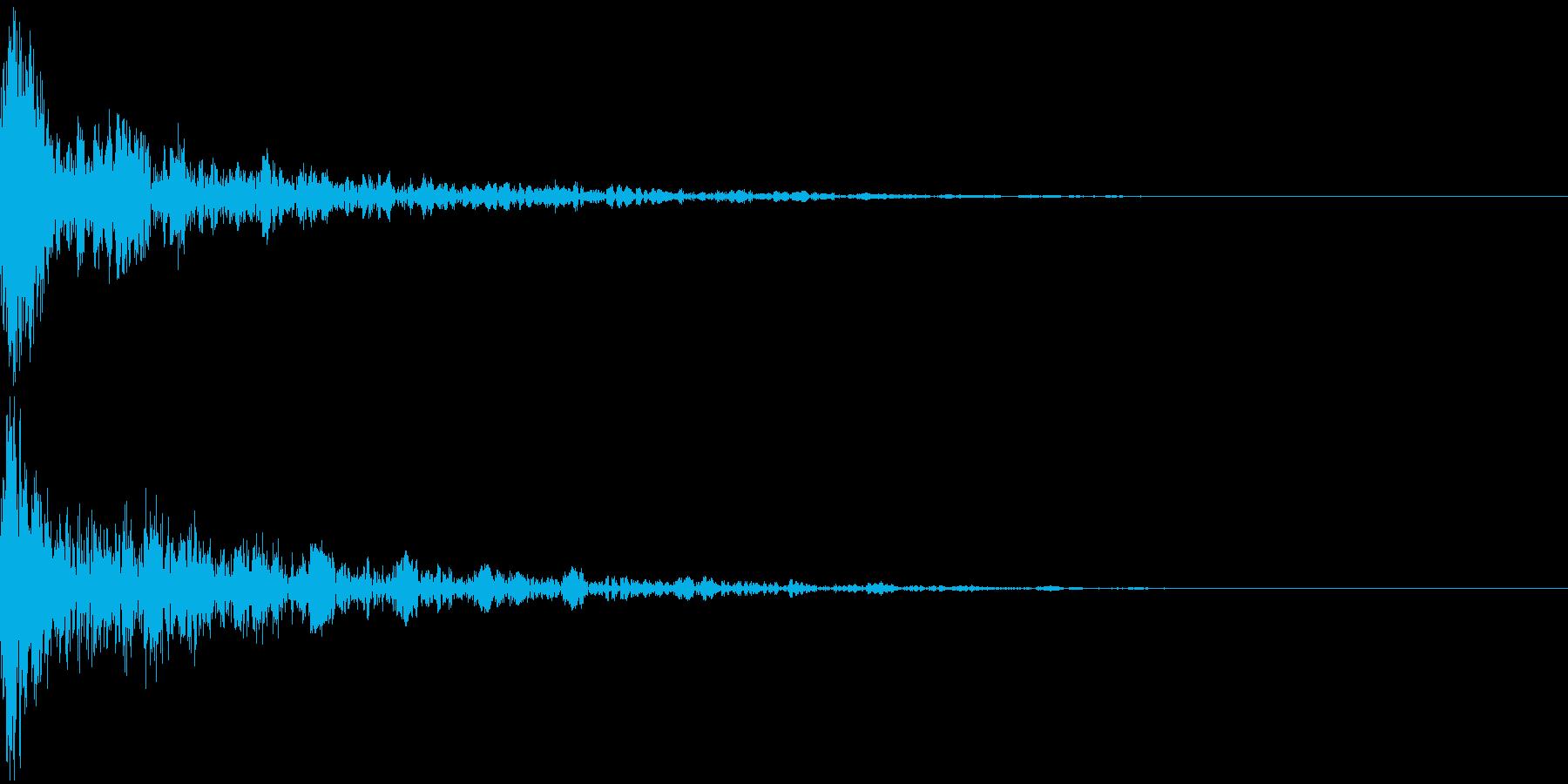 ドーン-16-2(インパクト音)の再生済みの波形