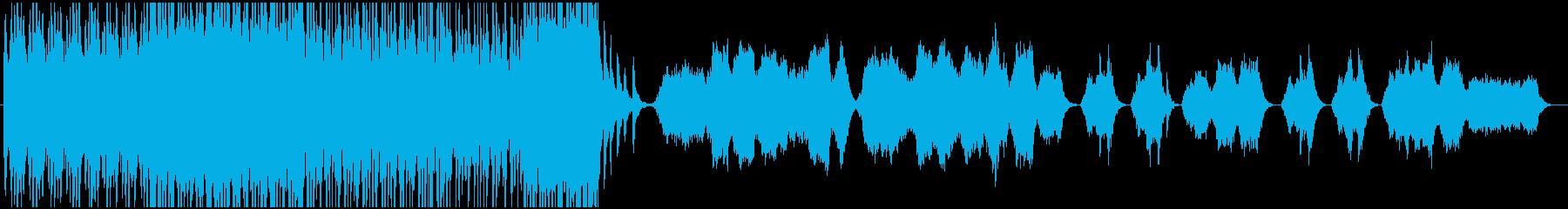荘厳で勇壮なファンファーレの再生済みの波形