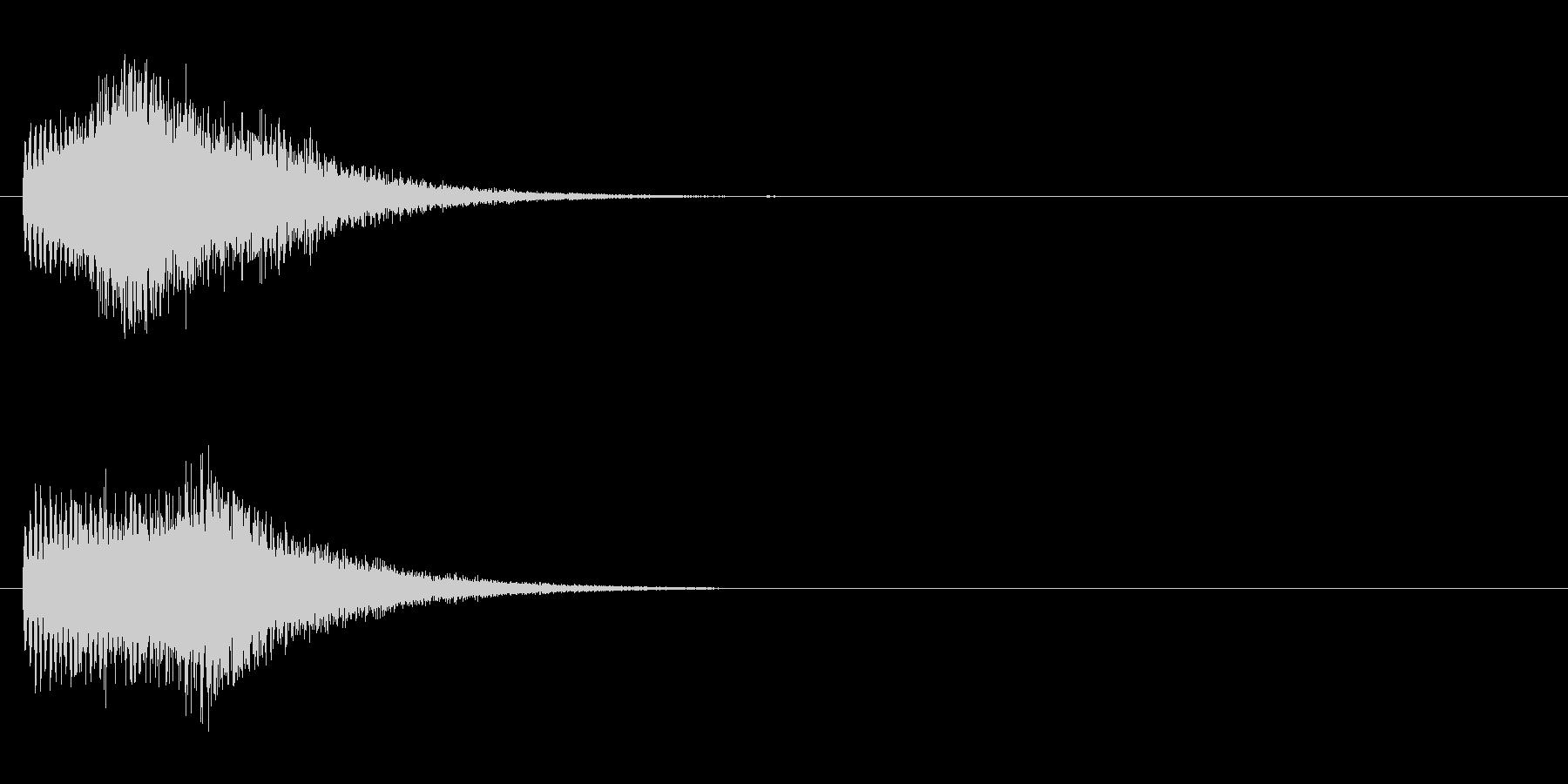 SE系ジングルの未再生の波形