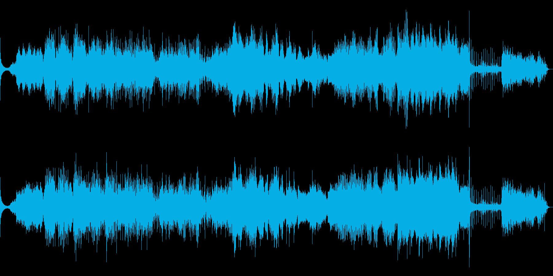 水を主題にしたノイズミュージックの再生済みの波形