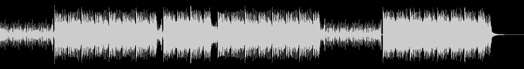 ロックでギターリフが特徴的な曲の未再生の波形