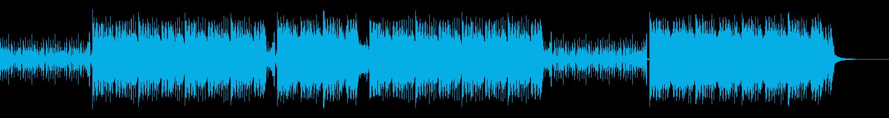ロックでギターリフが特徴的な曲の再生済みの波形