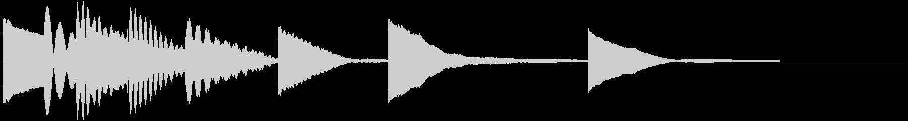 マリンバの短いロゴの未再生の波形