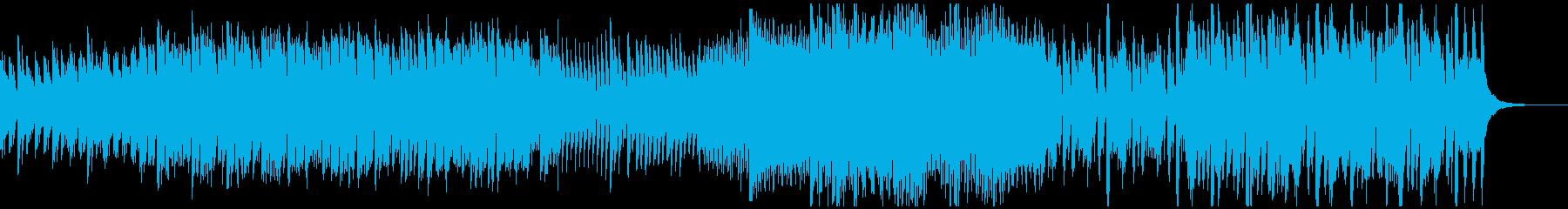 わくわく・高揚するアコースティック曲Bの再生済みの波形