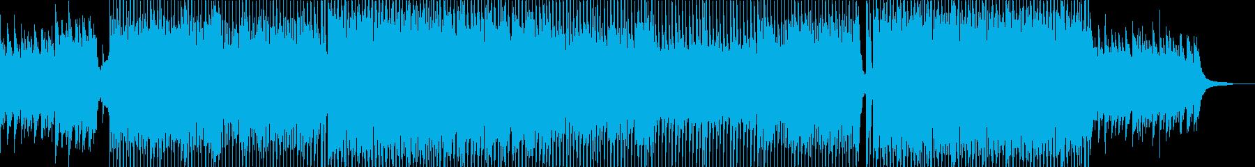 前向きなイメージのオープニングの再生済みの波形