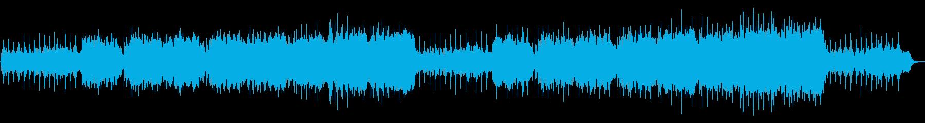 オカリナによる和風の穏やかで荘厳な曲の再生済みの波形
