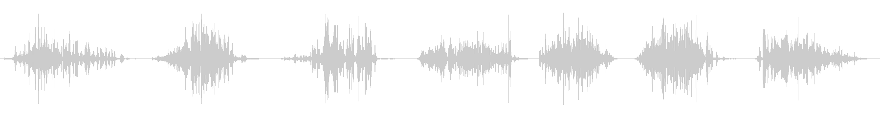 ウッド、ヘビードラッグx7の未再生の波形