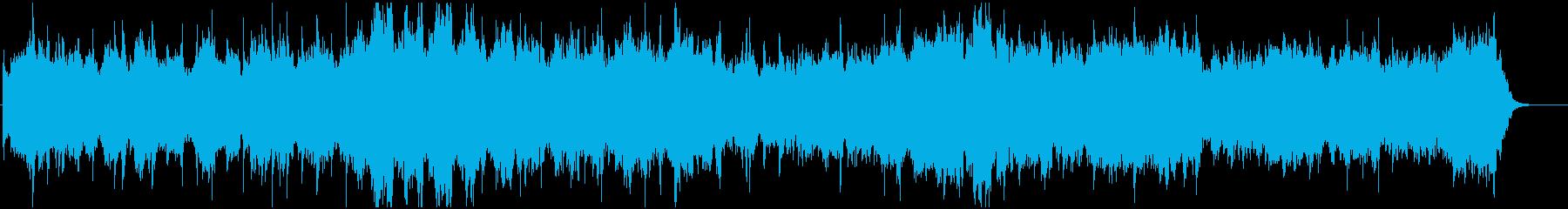 広がりのある優美で暖かみのあるBGMの再生済みの波形
