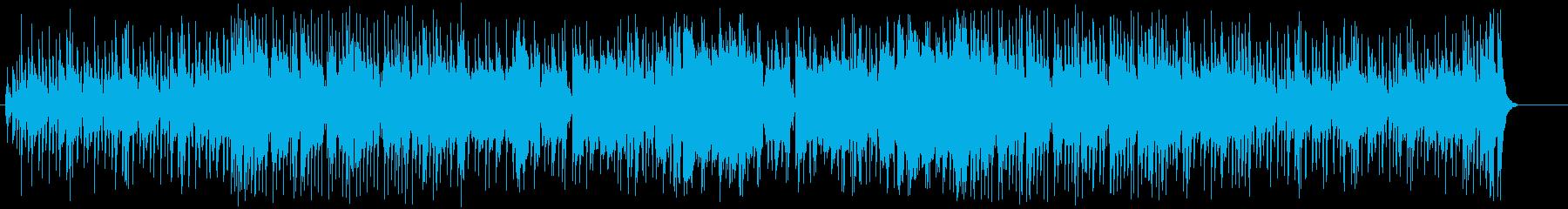 ブラックミュージックテイストのポップスの再生済みの波形