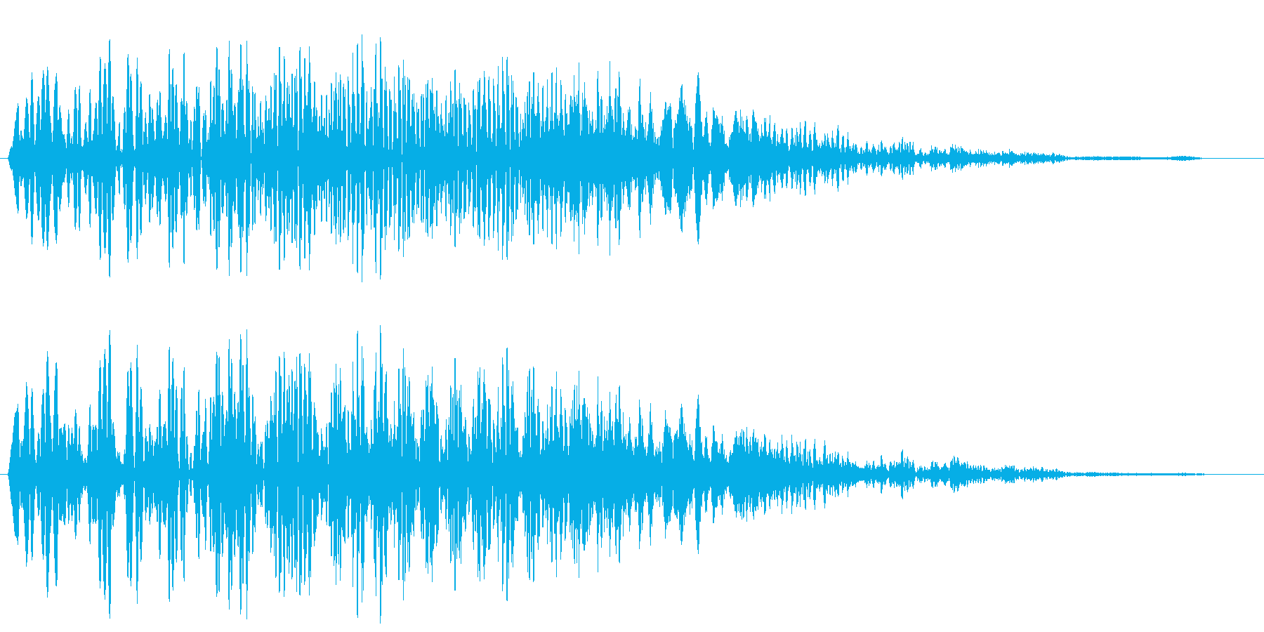 ブーンプシュー (重厚感のある開閉音)の再生済みの波形