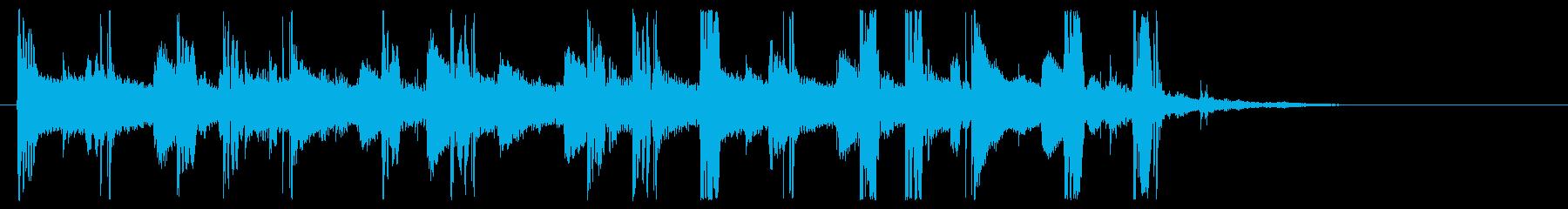 15秒の再生済みの波形