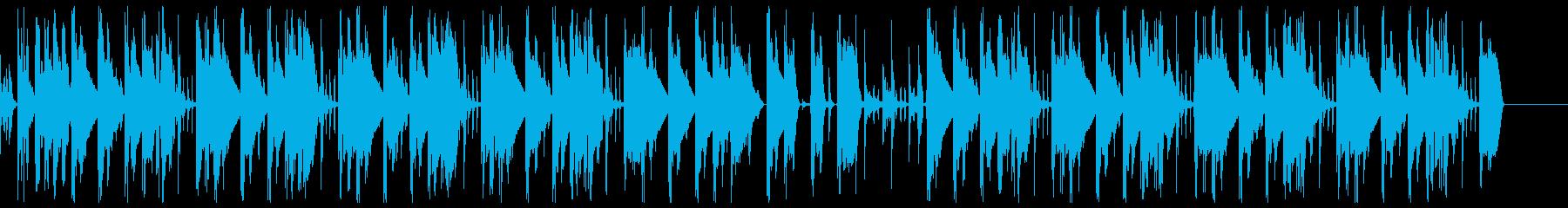 スリルのある威嚇系ヒップホップビートの再生済みの波形