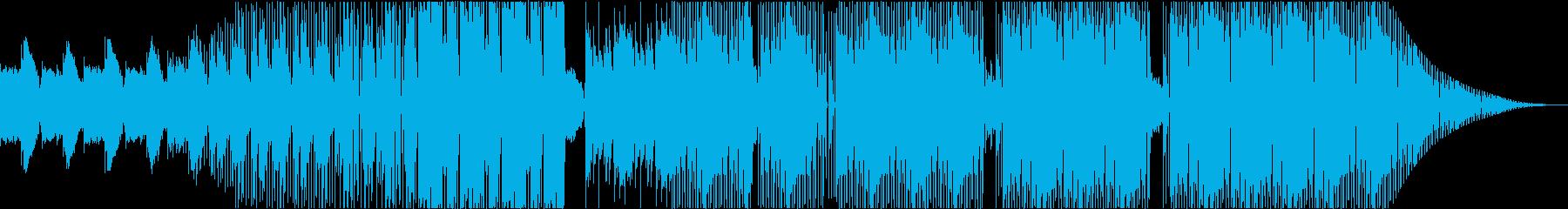 クールなイメージのHIPHOPビートの再生済みの波形