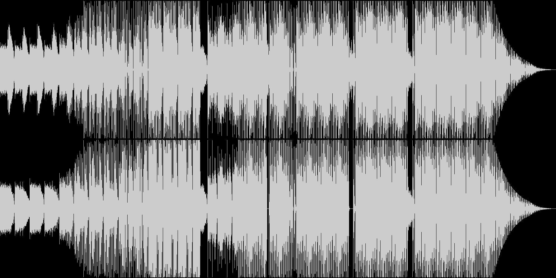 クールなイメージのHIPHOPビートの未再生の波形