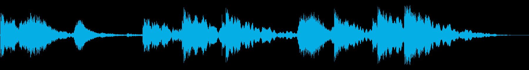 残響ヒンジのキーキーとラッチヒットの再生済みの波形