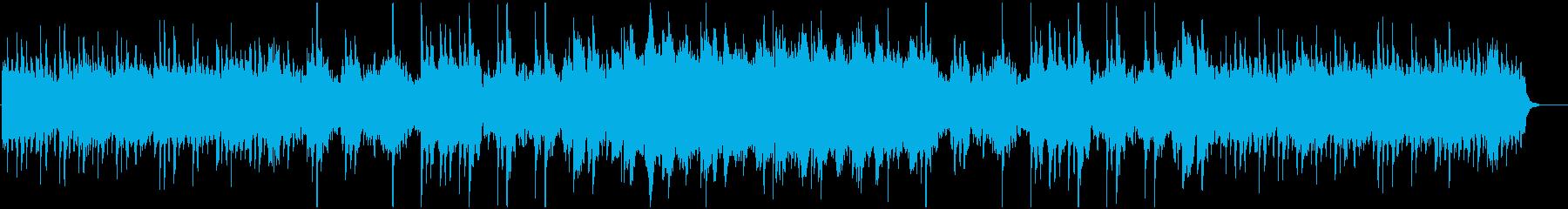 ハロウィン、ホラー、不気味な映画的BGMの再生済みの波形
