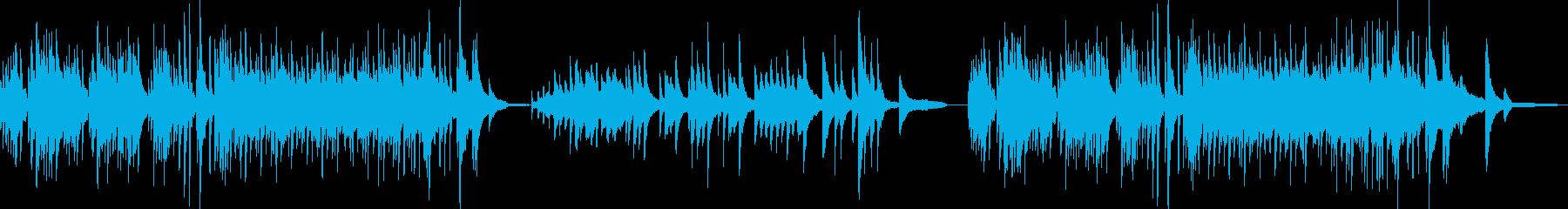 ずんぐりした雰囲気のBGMの再生済みの波形