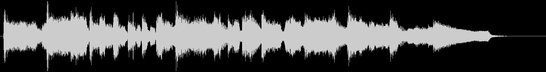 15秒CMに生演奏フルートのジャズワルツの未再生の波形