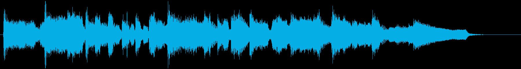 15秒CMに生演奏フルートのジャズワルツの再生済みの波形