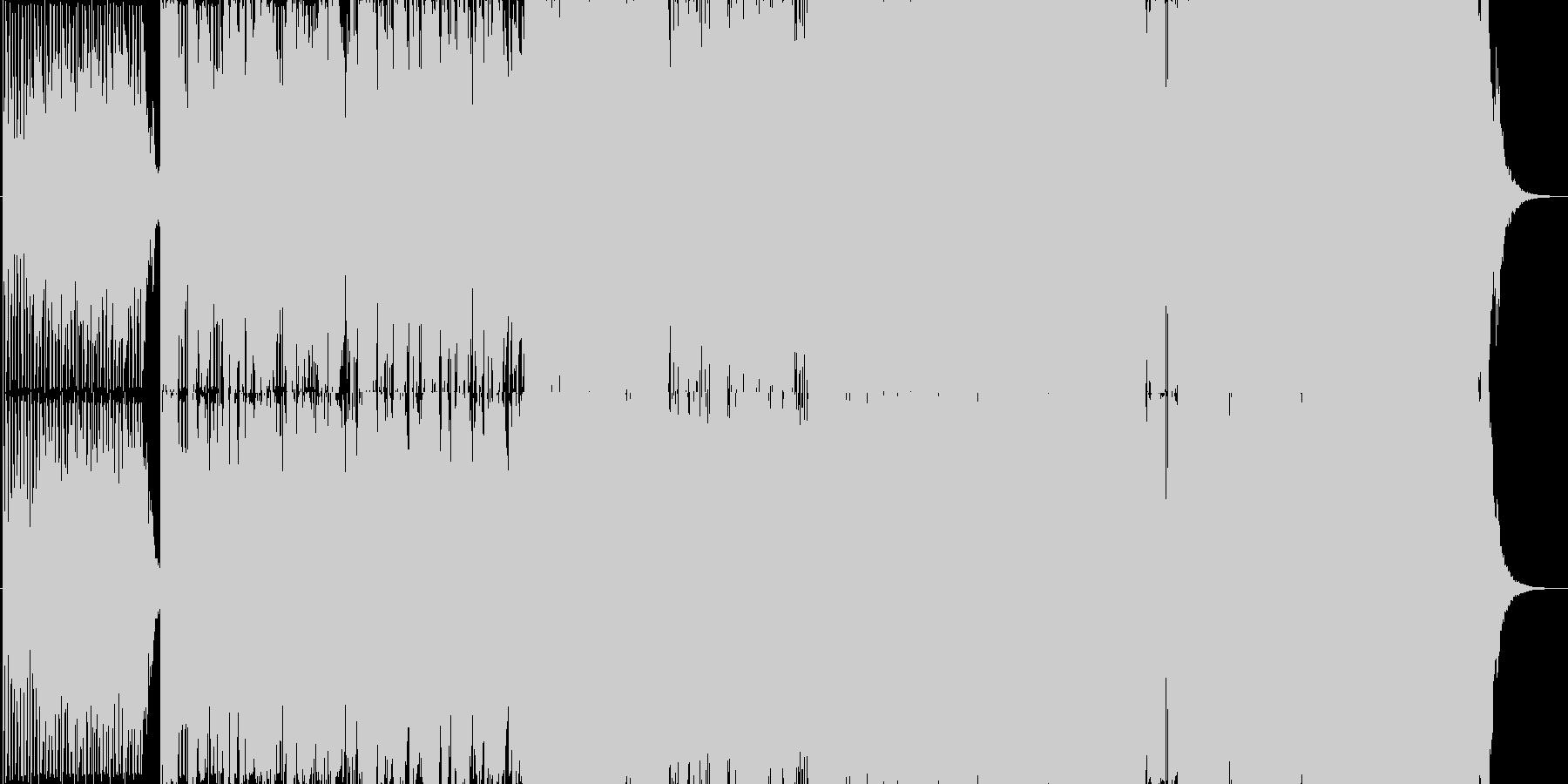シュールな歌詞の本格的ピアノバラードの未再生の波形