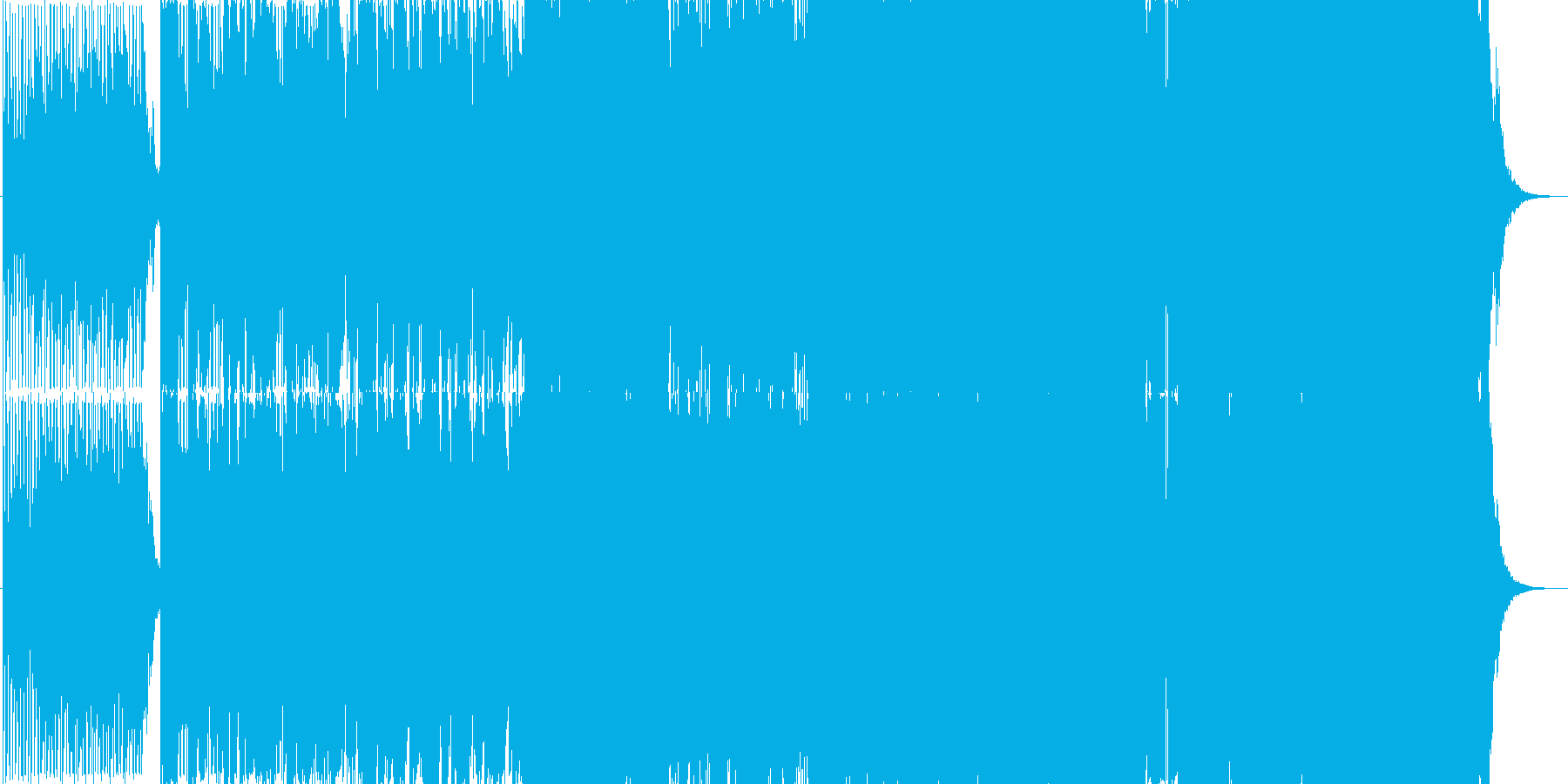 シュールな歌詞の本格的ピアノバラードの再生済みの波形